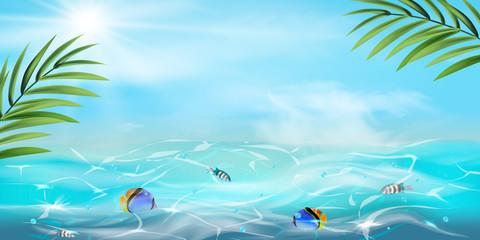 Fototapeta na wymiar Summer background