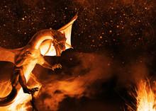 Flaming 3d Dragon