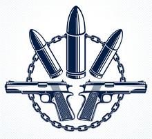 Revolution And War Vector Embl...