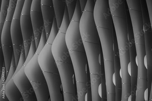 Fototapeta premium Abstrakcja czarno-biały ton Nowoczesna architektura w budynkach użyteczności publicznej Pomysły projektowe, projektowanie. Fotografia uliczna.