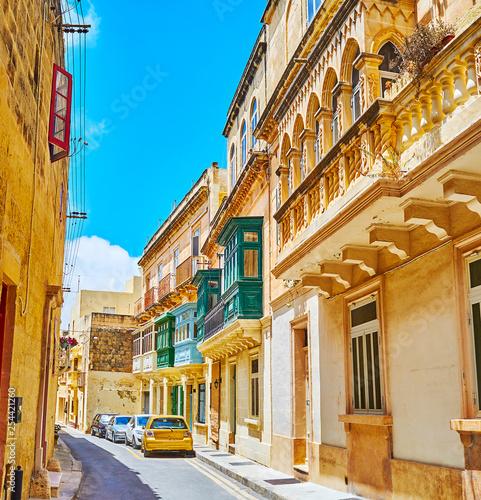 Foto auf AluDibond Gezeichnet Straßenkaffee The medieval streets of Rabat, Malta