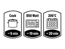 Cook Minutes Vector Icon. 5, 1...