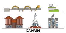 Vietnam, Da Nang Flat Landmark...