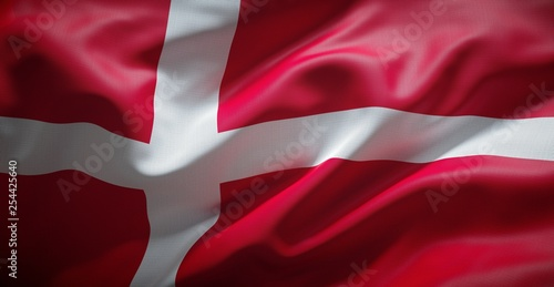 Photo  Danish flag. (Denmark)