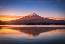 Landscape Image Of Mt. Fuji Ov...