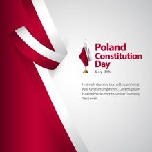 Poland Constitution Day Flag V...