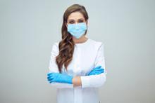 Woman Doctor Wearing Medical M...