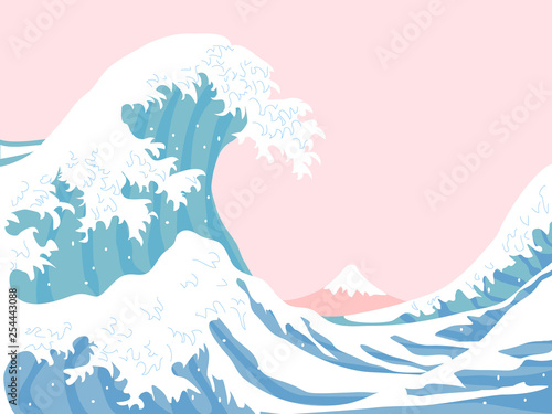 The great wave Wallpaper Mural
