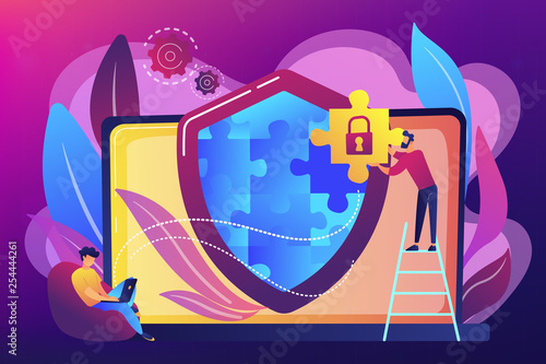 Fotografía  Firewall concept vector illustration.