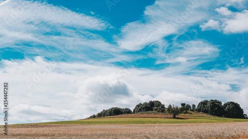 Landscape sith clouds Canvas Print