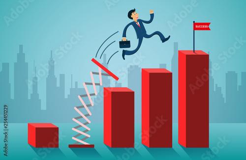 business finance concept Canvas Print
