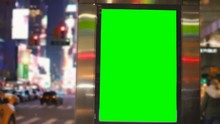 Chroma Key Blank Sign In Times Square New York City