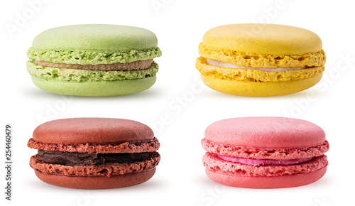 Spoed Foto op Canvas Macarons Set sweet colorful macarons