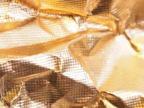 Fotografía  Silver metallic surface. Shiny texture.