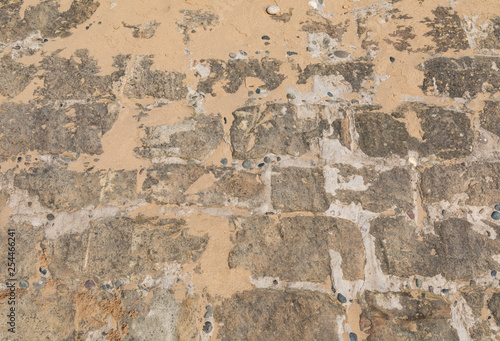 Photo sur Aluminium Vieux mur texturé sale Texture of rock and sand at St Annes on Sea Fylde Coast February 2019