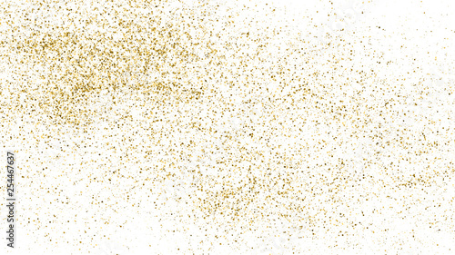 Gold Glitter Texture Isolated On White Tableau sur Toile