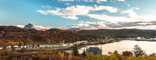 A Panoramic Image Of Lochinver In The Sutherlands Of Scotland