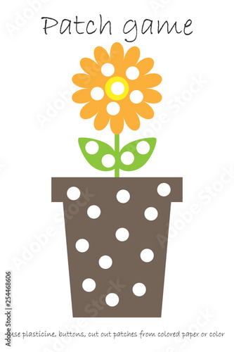 image relating to Printable Patches named Schooling Patch video game pot flower with leaves for kids toward