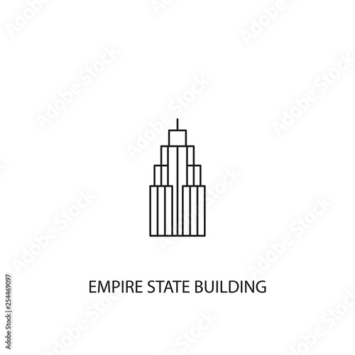 Tablou Canvas Empire State Building vector icon, outline style, editable stroke
