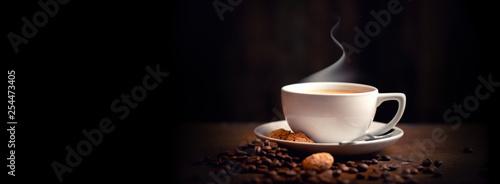 Foto auf Leinwand Kaffee Heißer Kaffee