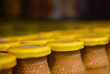 Mustard Jars In The Store