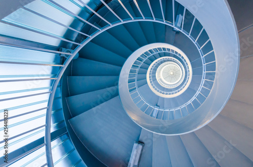 Blue spiral stairs Canvas-taulu