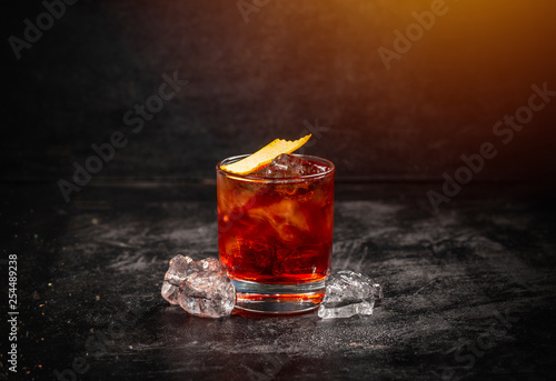Classic cocktail Negroni Canvas Print