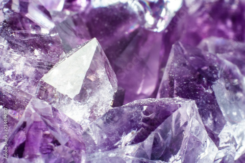 Fotografie, Obraz  Abstract background texture of natural crystal amethyst
