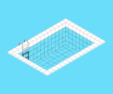 Isometric Swimming Pool. Swimm...