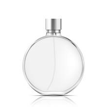 Perfume Glass Bottle On White ...