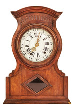 Wooden Ancient Clock Isolated ...