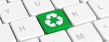 Recycling. Green Key Button Wi...