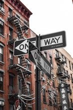 Black And Gray One Way Road Signage
