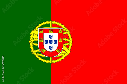 Fototapeta  Flag of Portugal. Official colors. Correct proportion. Vector