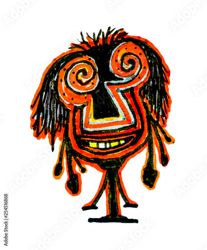 Fotografía  Tribal Cartoon Drawing Character