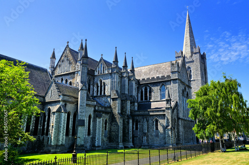 Fototapeta  View of the historic St Patrick's Cathedral in Dublin, Ireland