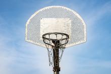 Metallic Basketball Board And Hoop