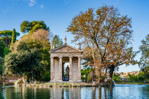 Temple of Aesculapius on the grounds of the gardens of Villa Borghese in Rome, I Wallpaper Mural