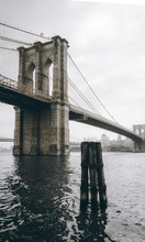 Brooklyn Bridge Grayscale Photography