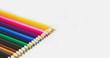 Buntstifte Regenbogen Farbe Banner