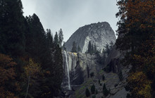 Vernal Falls And Half Dome In ...