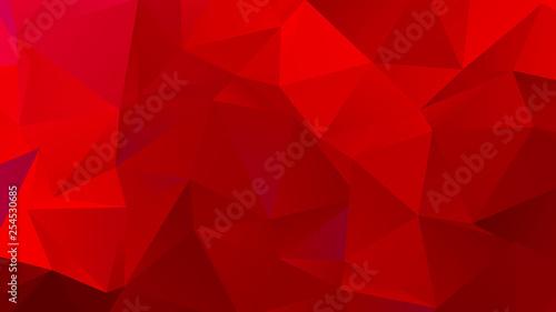 Fotomural  Dark Red Low Poly BG for Banner