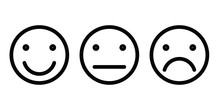 Basic Emoticons Set. Three Fac...