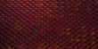 canvas print picture - red and gold dragon reptile fish snake skales pattern backround. dragon skin 3d rendered background