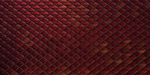Red And Gold Dragon Reptile Fish Snake Skales Pattern Backround. Dragon Skin 3d Rendered Background