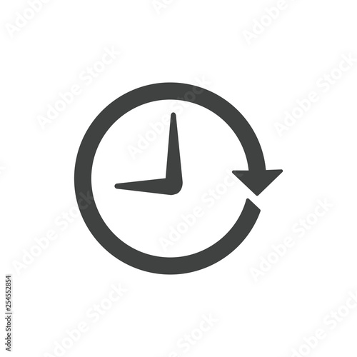 Obraz na plátne  Time Management Icon with Deadline, Hurry, & Punctual Symbolism