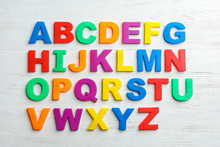 Plastic Magnetic Letters On Wo...