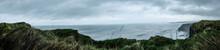 Panorama - Die Raue See Westküste Irland Anorama Atlantischer Ozean Atlantik Raue See Raues Meer Horizont Ozean Ungezähmt Wolken Die Wilde See Meer Küste Raues Wetter Schifffahrt