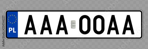 Fotografía  Vehicle number plate