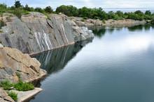 Historic Granite Quarry In Rockport, Massachusetts